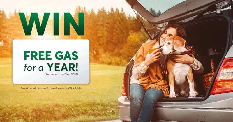 Desjardins Insurance win free gas contest
