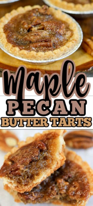 maple butter tarts with text