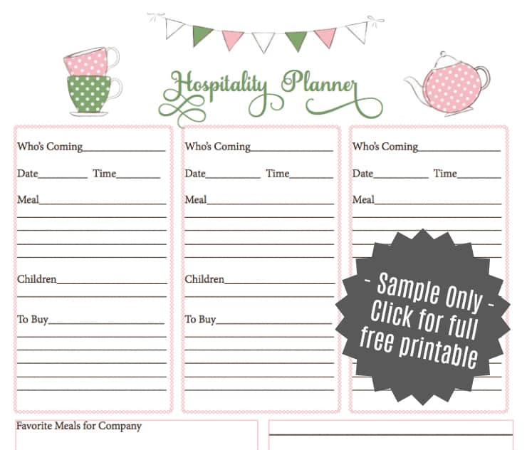 Printable Weekly Meal Planners: Printable Meal Planner For 2019