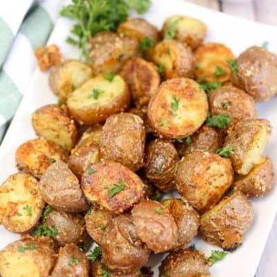 Garlic Herb and Parmesan Roasted Red Potatoes