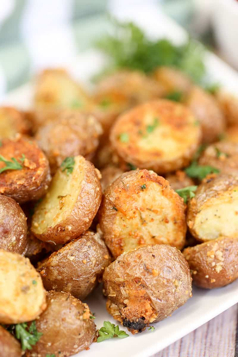Garlic Herb and Parmesan Roasted Red Potatoes