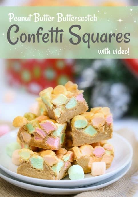 Peanut Butter Confetti Squares