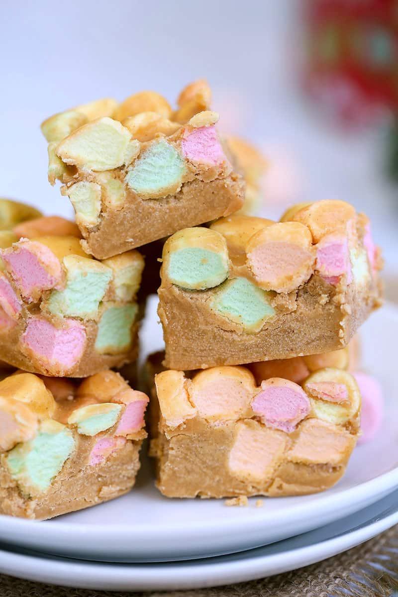 Peanut Butter Butterscotch Confetti Squares