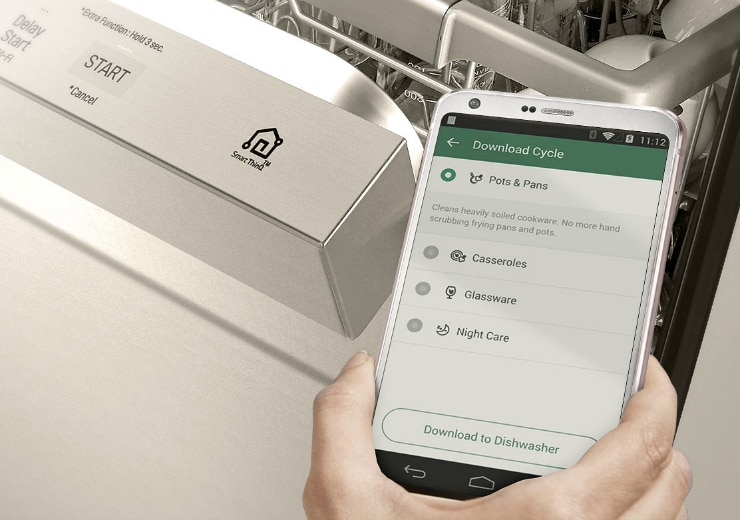 LG QuadWash TrueSteam Dishwasher app