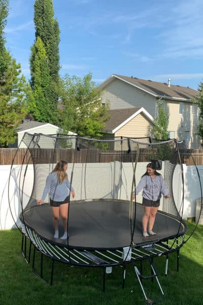 Back to School Routine Help with Springfree Trampoline