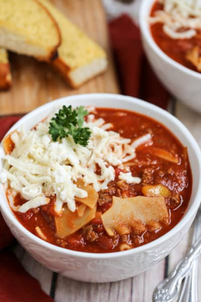 The Best One Pot Lasagna Soup