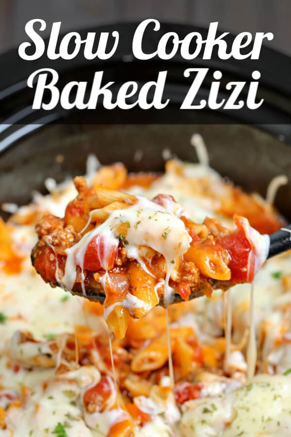 baked ziti in the slowcooker