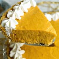 No Bake Marshmallow Pumpkin Pie
