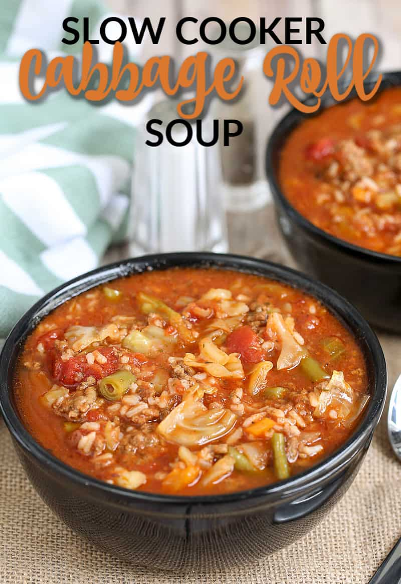 cabbage roll soup in a bowl