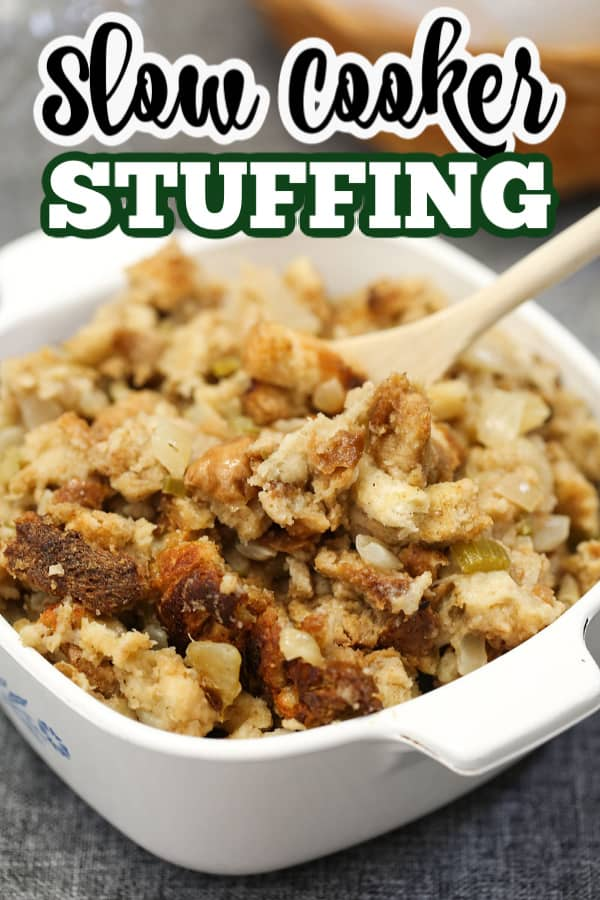 turkey stuffing in a dish