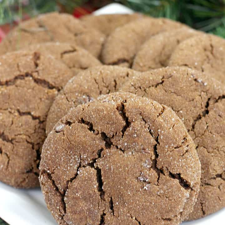 Chewy Chocolate Gingerbread Cookies
