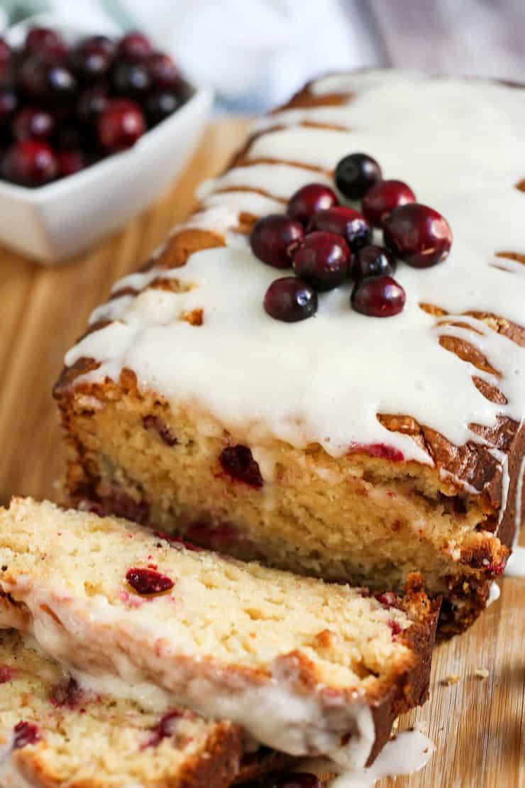 vanilla cranberry eggnog loaf