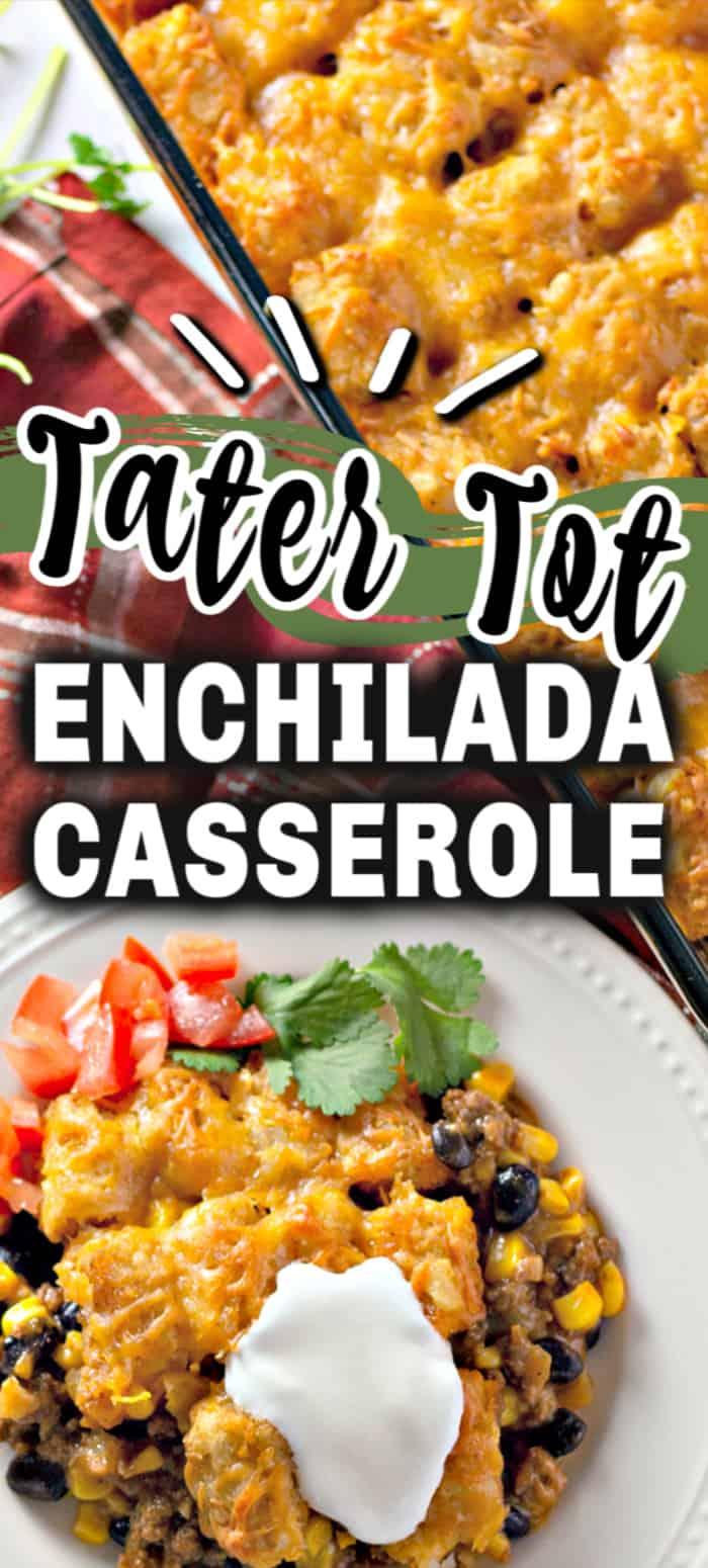 Tater Tot Enchilada Casserole - My Organized Chaos