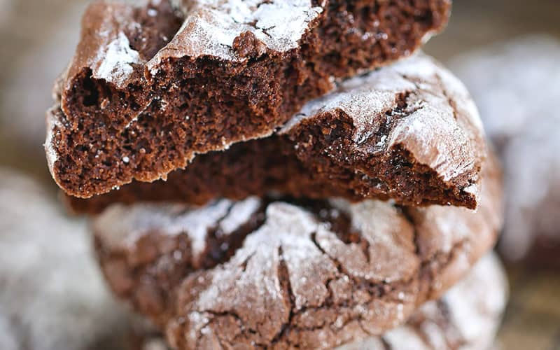 hot chocolate cookies tacked on one another