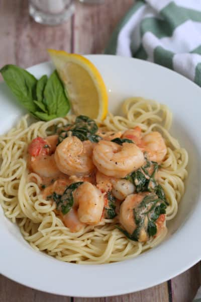 Creamy Garlic Tuscan Shrimp
