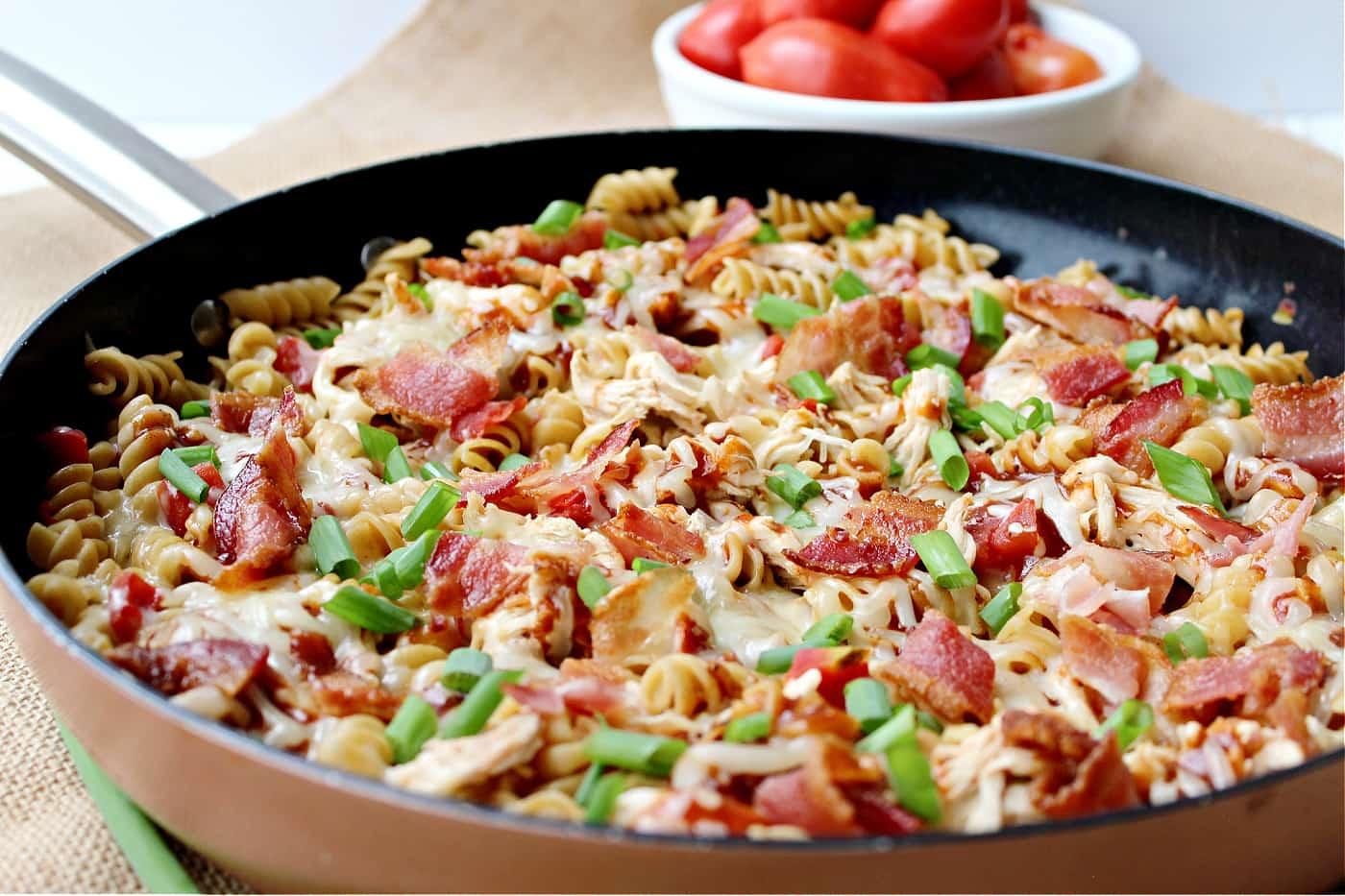 monterey chicken skillet recipe in a pan
