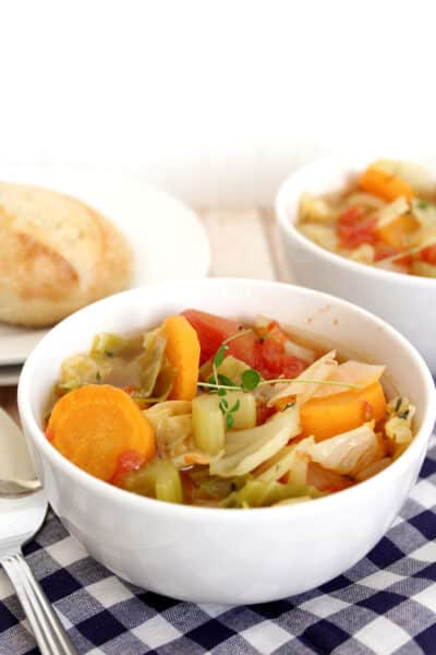 Healthy Vegetarian Cabbage Roll Soup