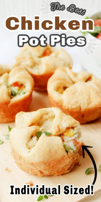 mini pot pies with text