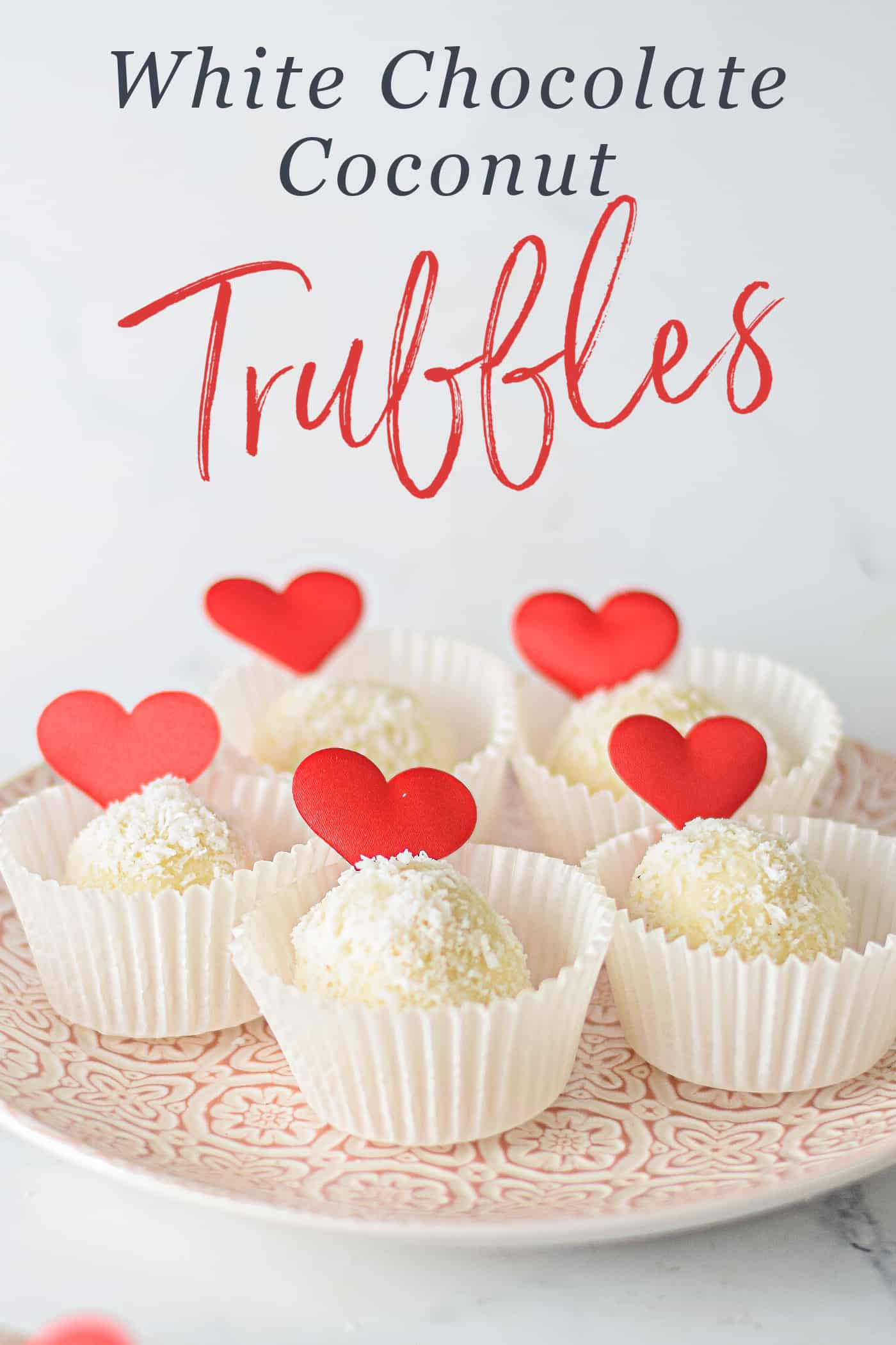 truffles in individual cupcake liners with text