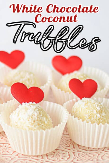 truffles in cupcake liners with hearts