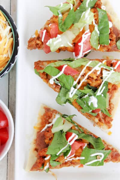 Skinny Flatbread Taco Pizza