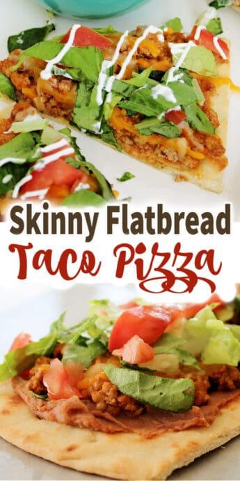 flatbread pizza recipe with text