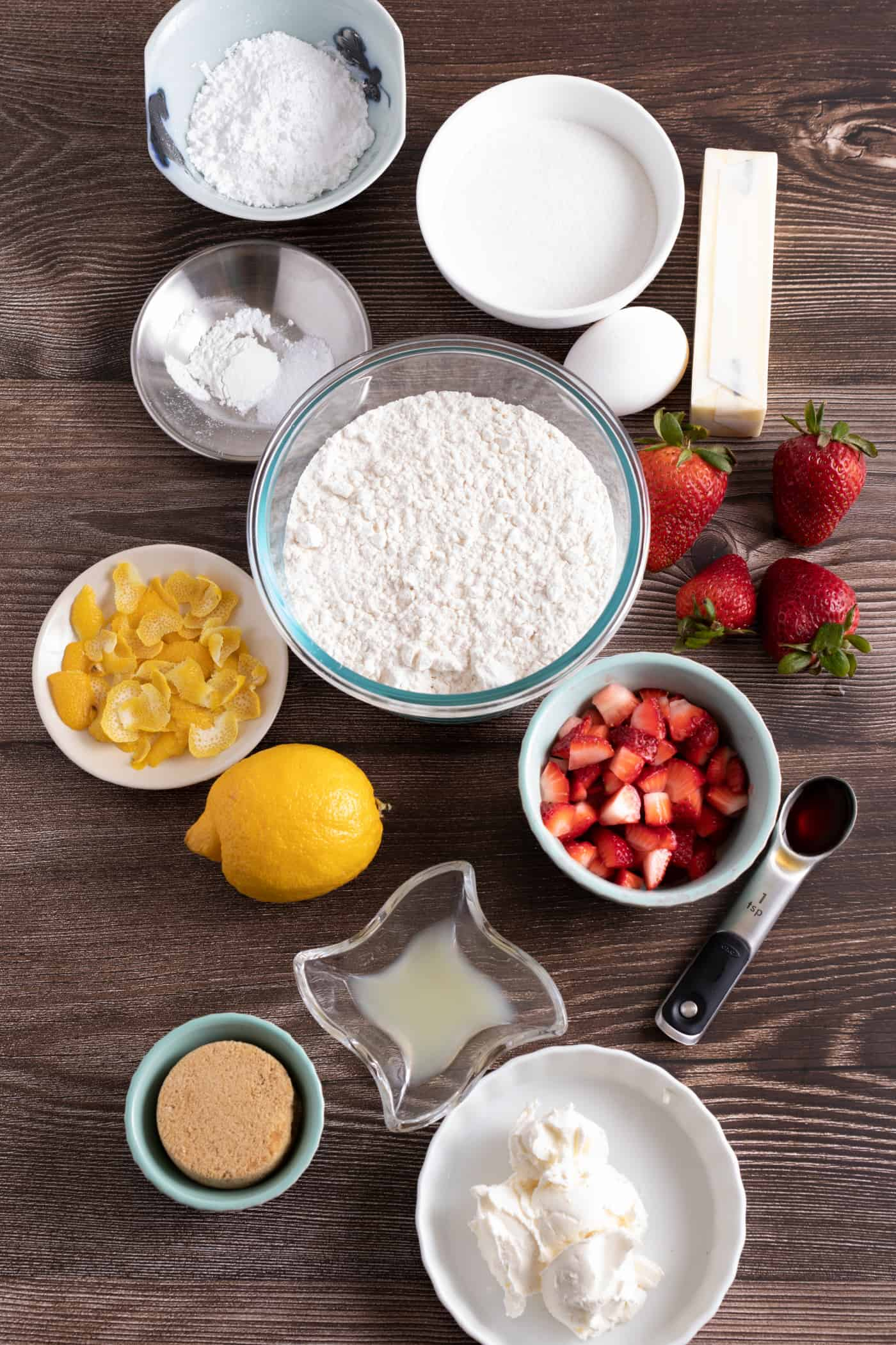 ingredients to make strawberry lemonade cream cheese cookies