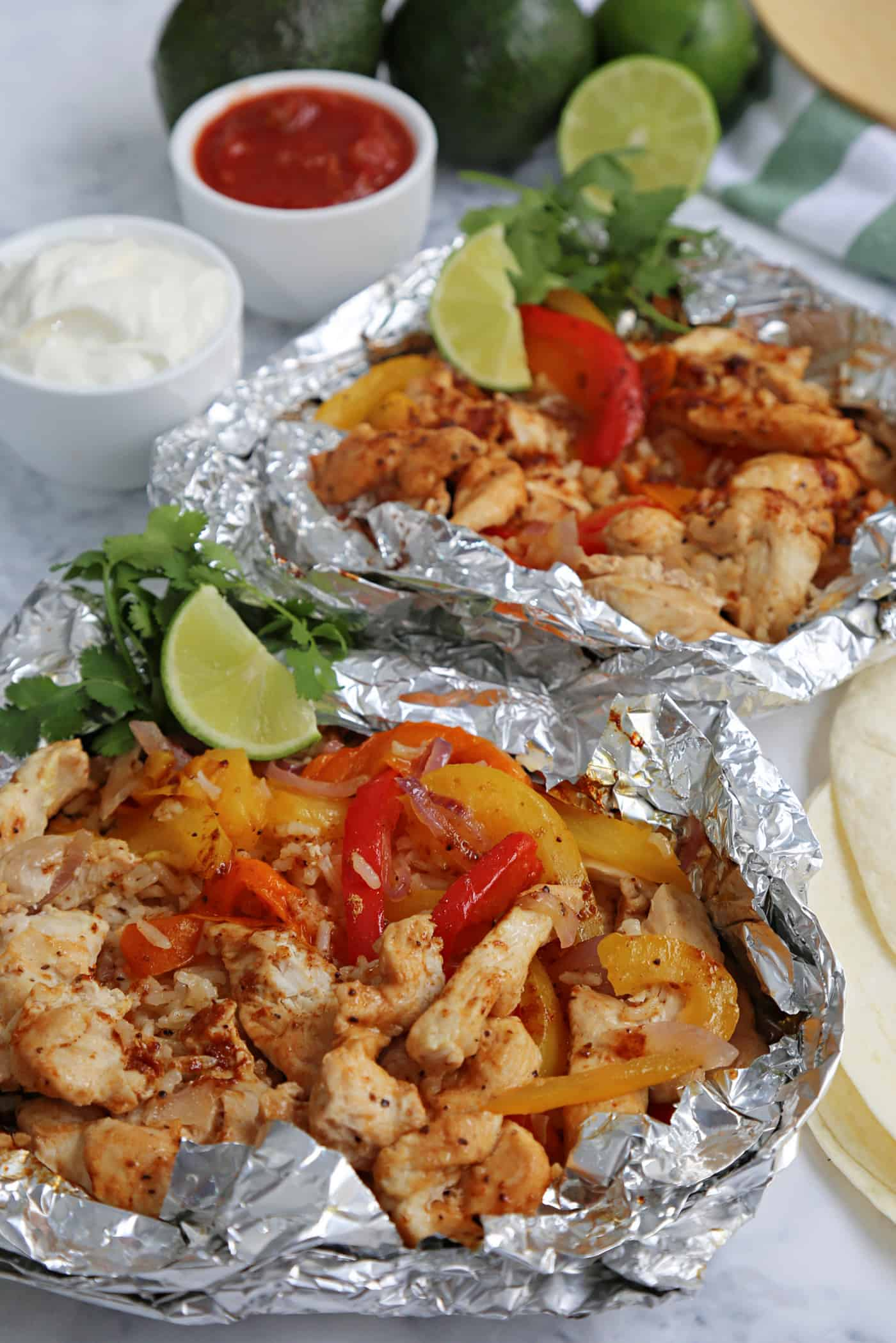 cooked on the BBQ Chicken Fajita Foil Packs