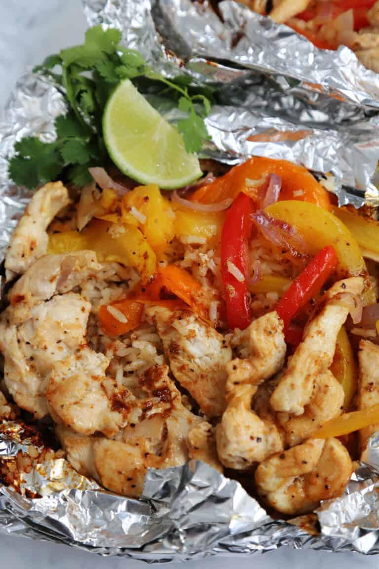 Chicken Fajita Foil Packets