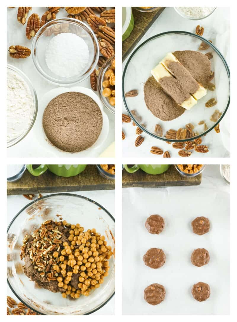 How to make SALTED CARAMEL CHOCOLATE CHIP COOKIES, 4 step by step photos